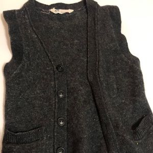 H&M dark grey cardigan vest